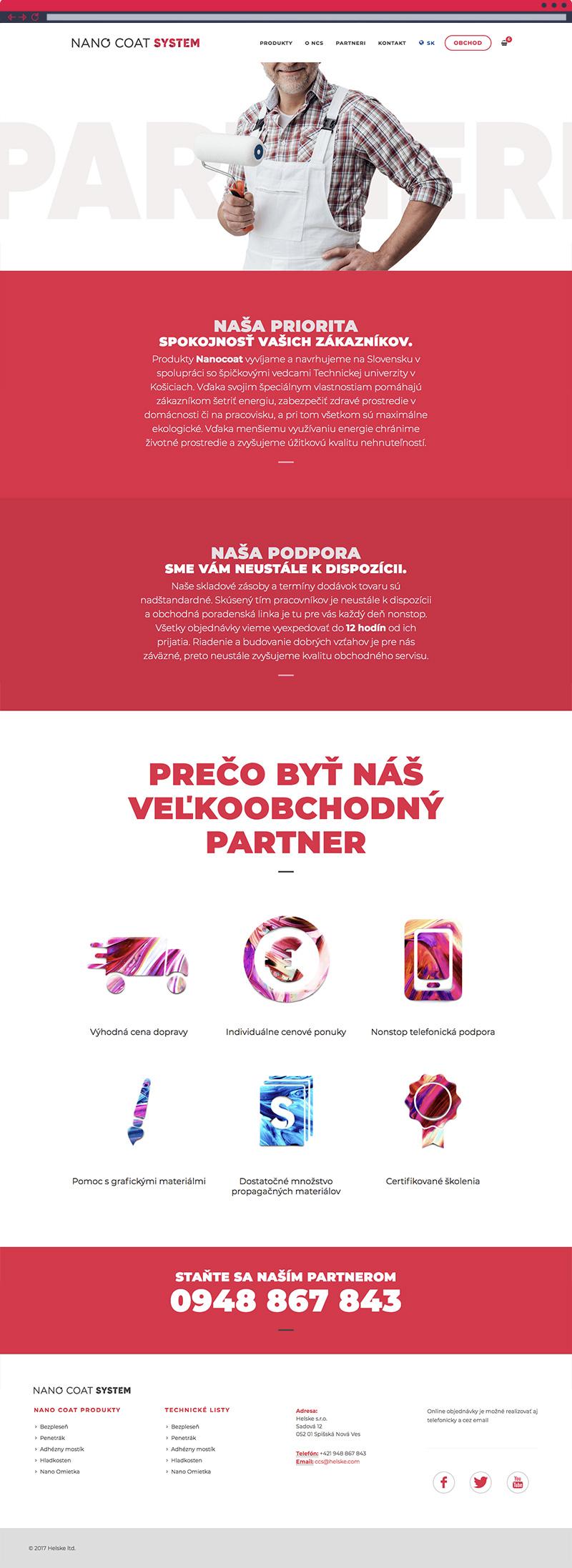 """NanoCoat System - stránka """"Partneri"""""""