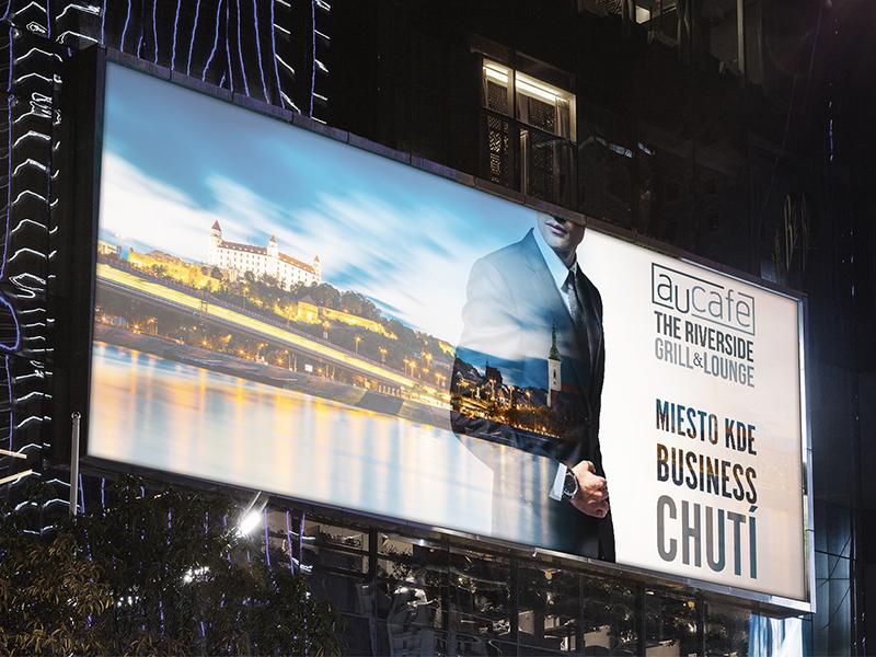 Aucafe billboard