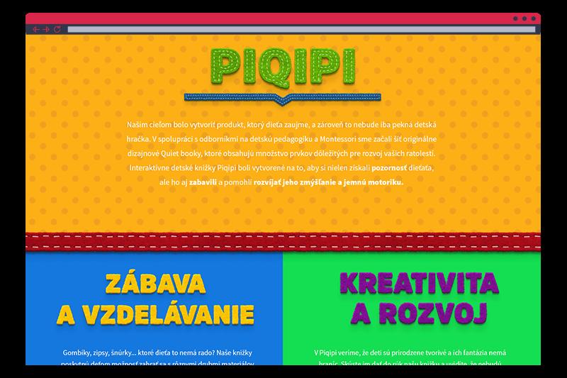 Piqipi - webstránka